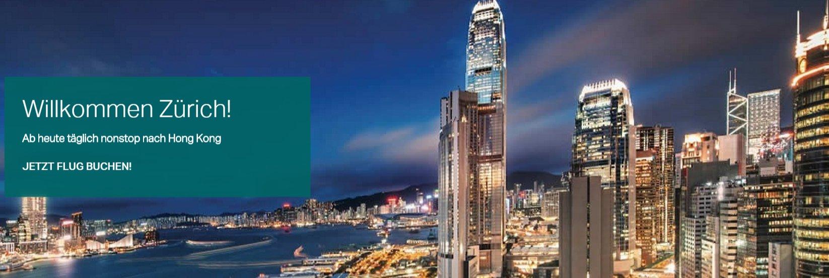 Cathay Pacific fliegt ab sofort täglich nach Hong Kong!